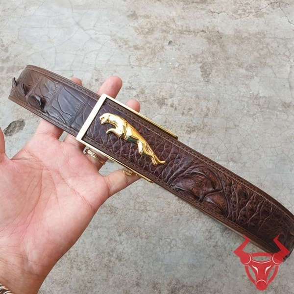 Dây Thắt Lưng Nam Da Cá Sấu Xuất Khẩu TL020408B