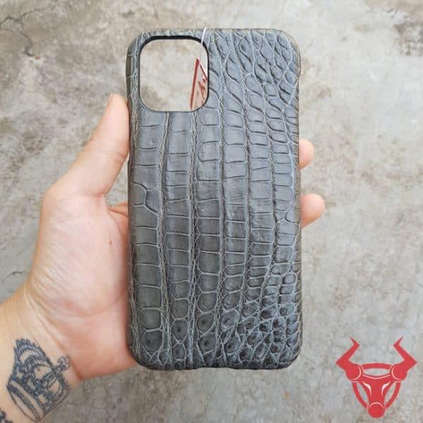 Ốp Lưng Da Cá Sấu Iphone 11 Màu Xám OD1508