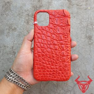 Ốp Lưng Da Cá Sấu Iphone 11 Pro Màu Đỏ OC8A8-Pro
