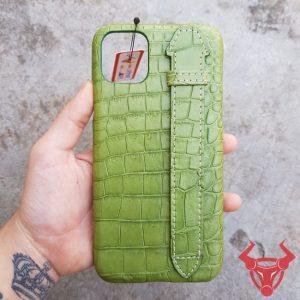 Ốp Lưng Da Cá Sấu Iphone 11 Pro Max OP14A8
