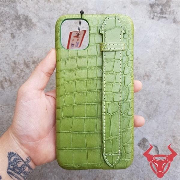 Ốp Lưng Da Cá Sấu Iphone 11 Pro Max OP1408
