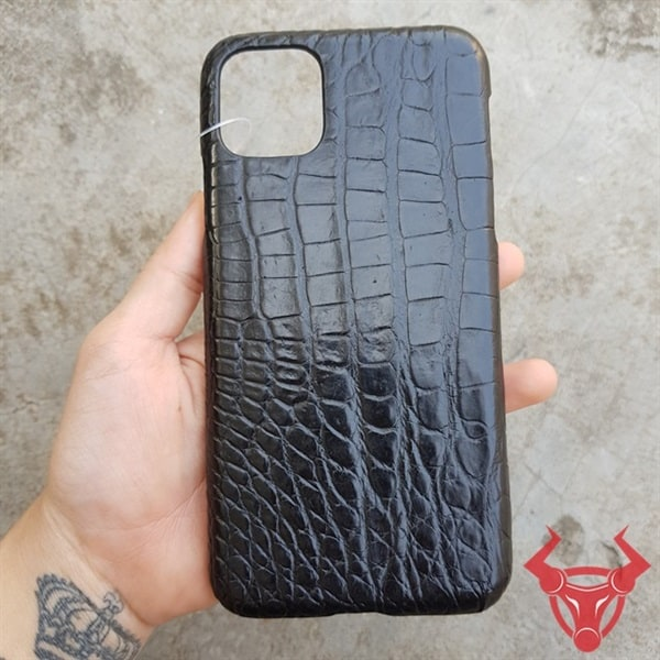 Ốp Lưng Da Cá Sấu Màu Đen Iphone 11 Pro Max OD0108-Pmax