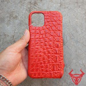 Ốp Lưng Da Cá Sấu Màu Đỏ Iphone 11 OD8A8