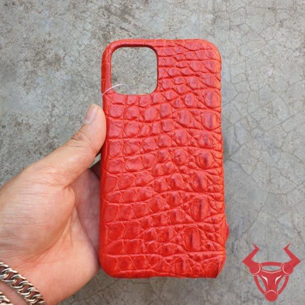 Ốp Lưng Da Cá Sấu Màu Đỏ Iphone 11 OC0808