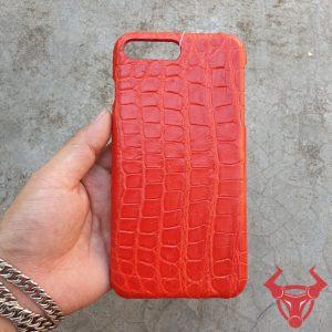 Ốp Lưng Da Cá Sấu Màu Đỏ Iphone 7 Plus OC0808