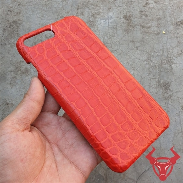 Ốp Lưng Da Cá Sấu Màu Đỏ Iphone 7 Plus OC0108