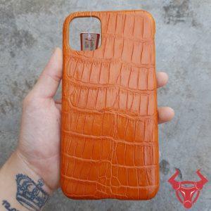 Ốp Lưng Da Cá Sấu Màu Vàng Bò Iphone 11 Pro Max OD6A1