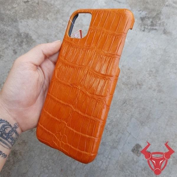 Ốp Lưng Da Cá Sấu Màu Vàng Bò Iphone 11 Pro MaxOD0601
