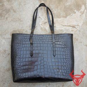 Túi Xách Nữ Da Cá Sấu Màu Nâu TY0108-B
