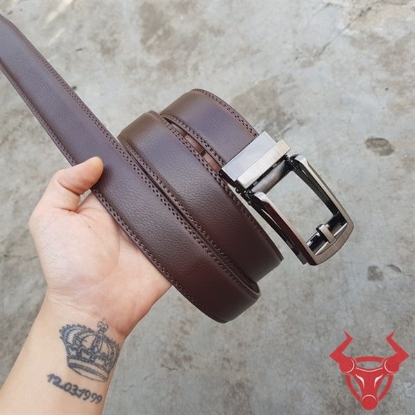 Thắt Lưng Da Bò mặt Đầu Khóa Kim TLK05-N