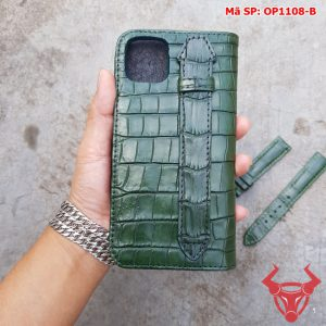 Bao Da Iphone 11 Pro Max Da Cá Sấu Thật OP1108-B