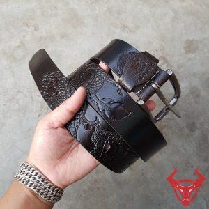 Thắt Lưng Hình Rồng Da Bò Khóa Inox TLK10-Đ