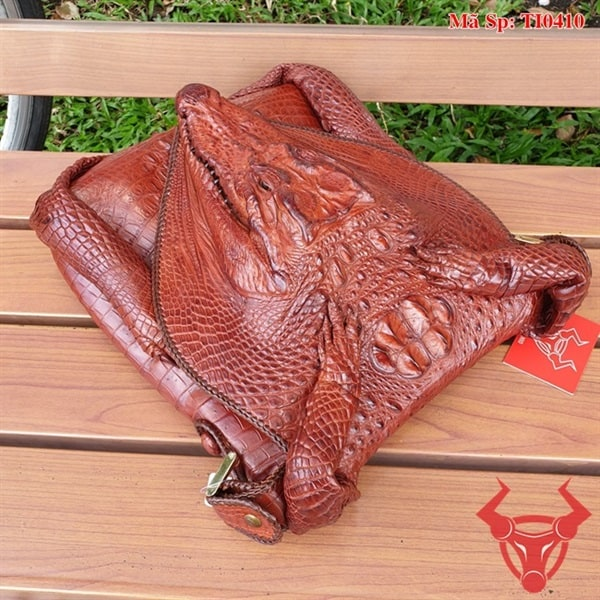 Túi Đeo Chéo Da Cá Sấu Đầu Cá TI0410