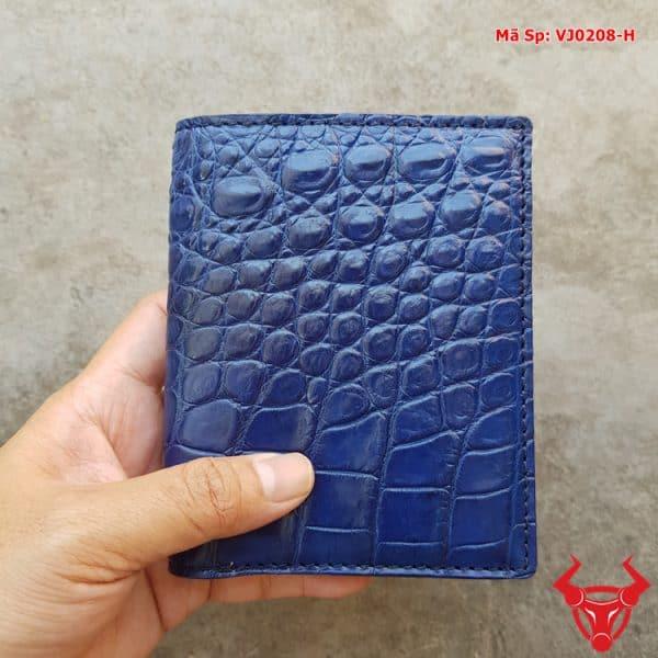 Bóp Da Cá Sấu Đứng Trơn Hông VJ1208-H
