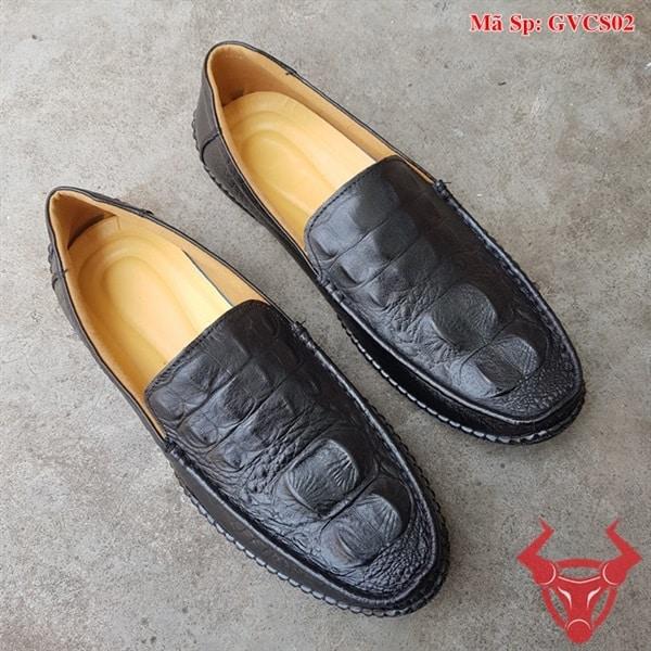 Giày Lười Nam Da Bò Dập Vân Cá Sấu GVCS02 (1)