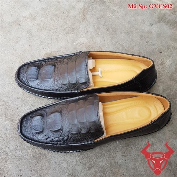 Giày Lười Nam Da Bò Dập Vân Cá Sấu GVCS02 (2)