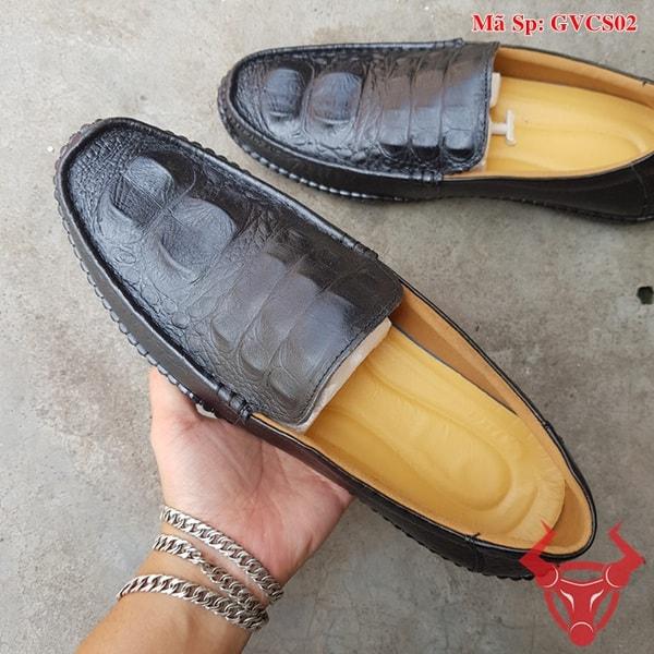 Giày Lười Nam Da Bò Dập Vân Cá Sấu GVCS02 (3)