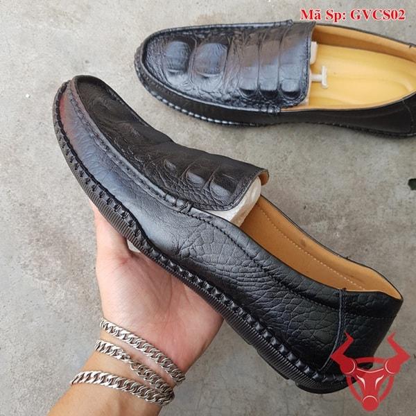 Giày Lười Nam Da Bò Dập Vân Cá Sấu GVCS02 (4)