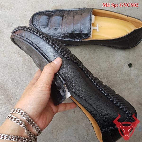 Giày Lười Nam Da Bò Dập Vân Cá Sấu GVCS02 (5)