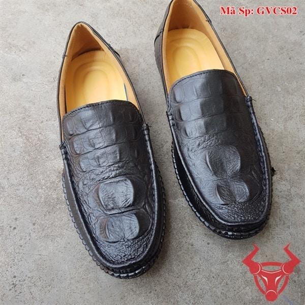 Giày Lười Nam Da Bò Dập Vân Cá Sấu GVCS02 (7)