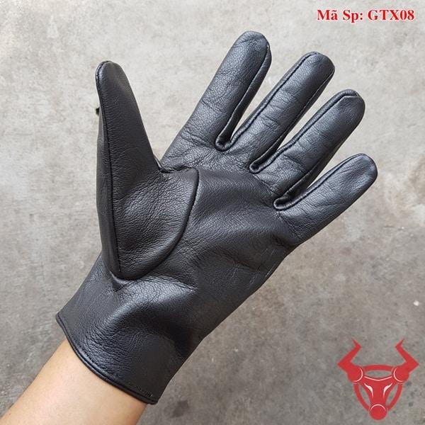 Găng Tay Da Cừu Biker GTX08