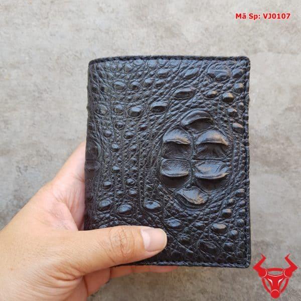 Bóp Da Cá Sấu Đứng Gù Gai VJ0107