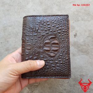 Bóp Da Cá Sấu Đứng Nam Gù Gai VJ0207