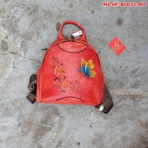 Balo Da Bò Thật Cho Nam Thời Trang Cao Cấp BLD32-ĐO