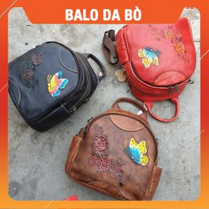 Balo Nam Da Bò Thật Nam Giá Rẻ Cafe BLD32