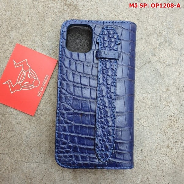 Tuidacasau Bao Da Cá Sấu Iphone 11 Trơn Navy OP1208-A (13)