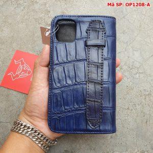Bao Da Cá Sấu Iphone 11 Trơn Navy OP12A8-A