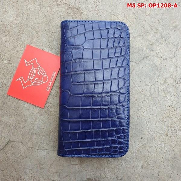 Tuidacasau Bao Da Cá Sấu Iphone 11 Trơn Navy OP1208-A (9)