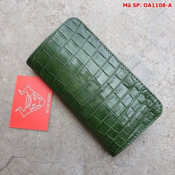 Tuidacasau Bao Da Cá Sấu Iphone XS MAX Xanh Lá Trơn OA1108-A (3)