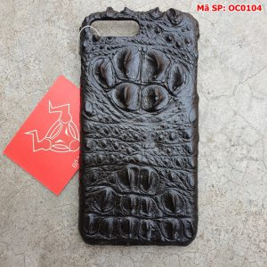 Ốp Lưng 7Plus/8Plus Cá Sấu Gù Đen OC0104