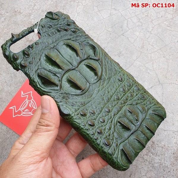 Tuidacasau Ốp Lưng Cá Sấu Ip 7Plus/8Plus Gù Xanh Lá OC1104 (2)