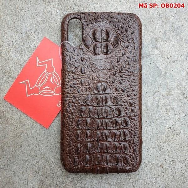 Tuidacasau Ốp Lưng Cá Sấu Iphone X Gù Nâu Đen OB0204 (1)