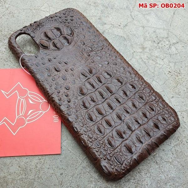 Tuidacasau Ốp Lưng Cá Sấu Iphone X Gù Nâu Đen OB0204 (2)