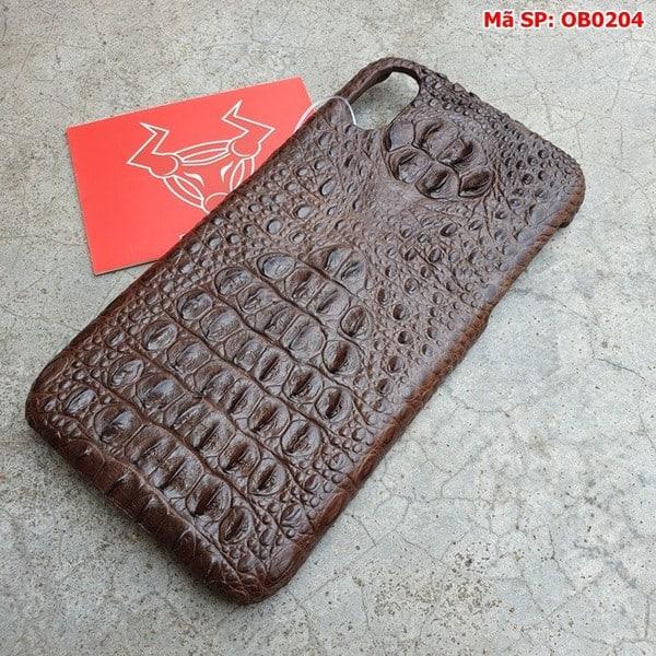 Tuidacasau Ốp Lưng Cá Sấu Iphone X Gù Nâu Đen OB0204 (3)