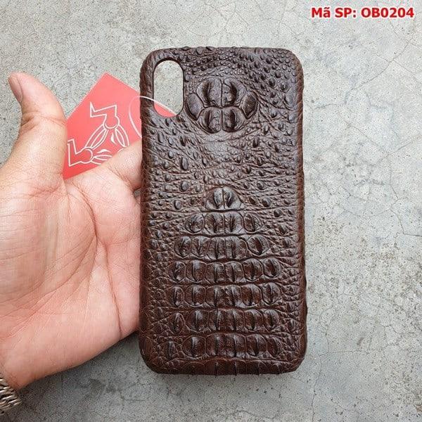 Tuidacasau Ốp Lưng Cá Sấu Iphone X Gù Nâu Đen OB0204 (4)