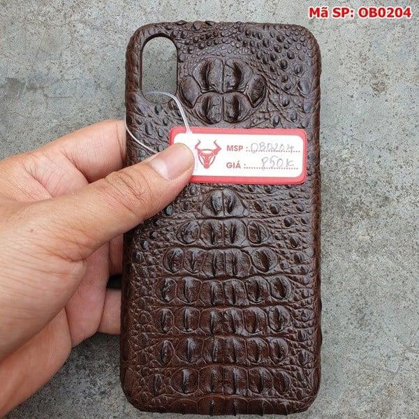 Tuidacasau Ốp Lưng Cá Sấu Iphone X Gù Nâu Đen OB0204 (5)