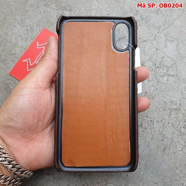 Tuidacasau Ốp Lưng Cá Sấu Iphone X Gù Nâu Đen OB0204 (6)