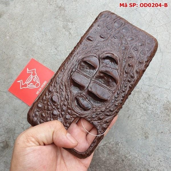 Tuidacasau Ốp Lưng Cá Sấu Iphone 11 promax Gù Nâu Đen OD0204-B (3)