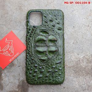 Ốp Lưng Cá Sấu Iphone11 promax Gù Xanh Lá OD11A4-B