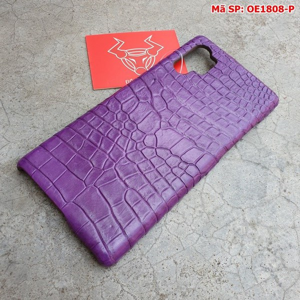 Tuidacasau Ốp Lưng Cá Sấu Samsung Note 10 Plus Trơn Tím OE1808-P (2)