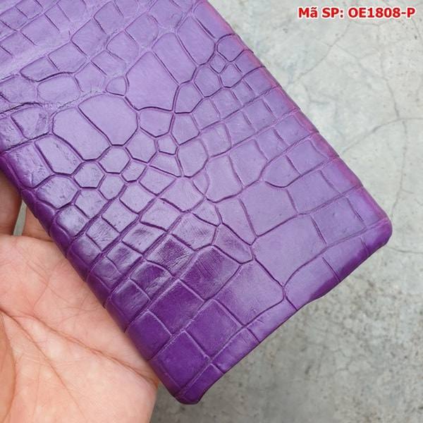 Tuidacasau Ốp Lưng Cá Sấu Samsung Note 10 Plus Trơn Tím OE1808-P (5)