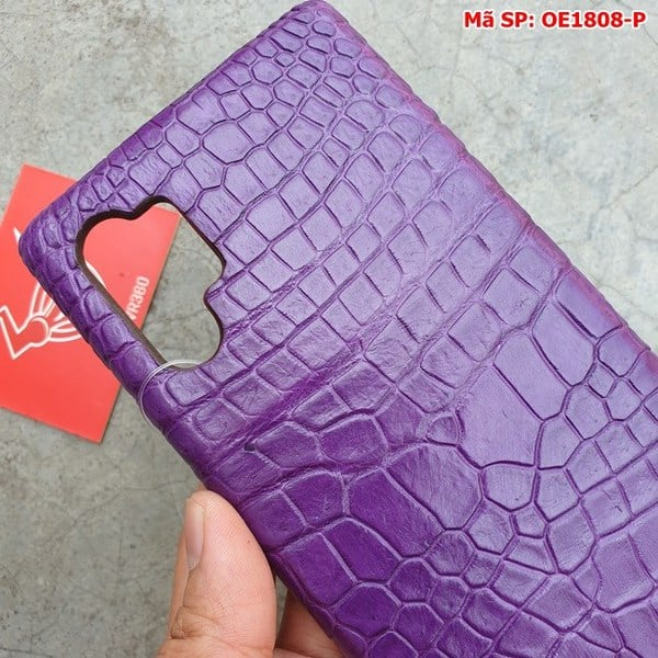 Tuidacasau Ốp Lưng Cá Sấu Samsung Note 10 Plus Trơn Tím OE1808-P (6)