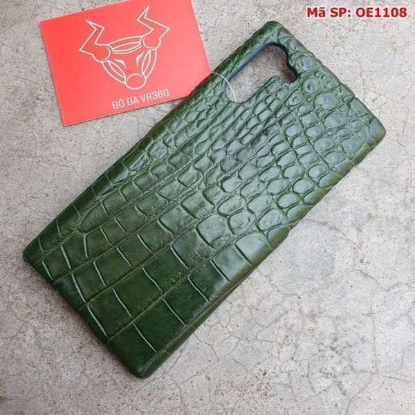 Tuidacasau Ốp Lưng Cá Sấu Samsung Note 10 Trơn Xanh Lá OE1108 (2)