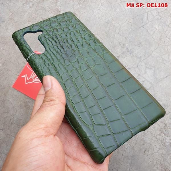 Tuidacasau Ốp Lưng Cá Sấu Samsung Note 10 Trơn Xanh Lá OE1108 (3)