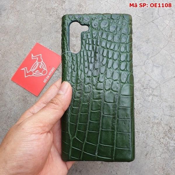 Tuidacasau Ốp Lưng Cá Sấu Samsung Note 10 Trơn Xanh Lá OE1108 (4)