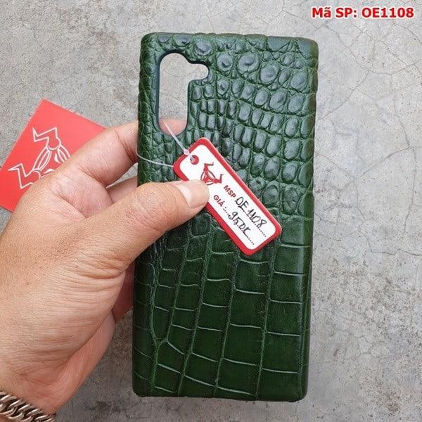 Tuidacasau Ốp Lưng Cá Sấu Samsung Note 10 Trơn Xanh Lá OE1108 (5)
